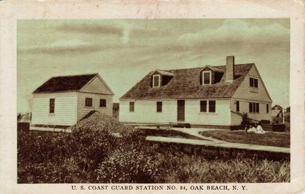 This historic photo shows an Oak Beach Life