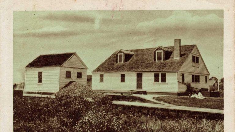 This historic photo shows an Oak Beach Life