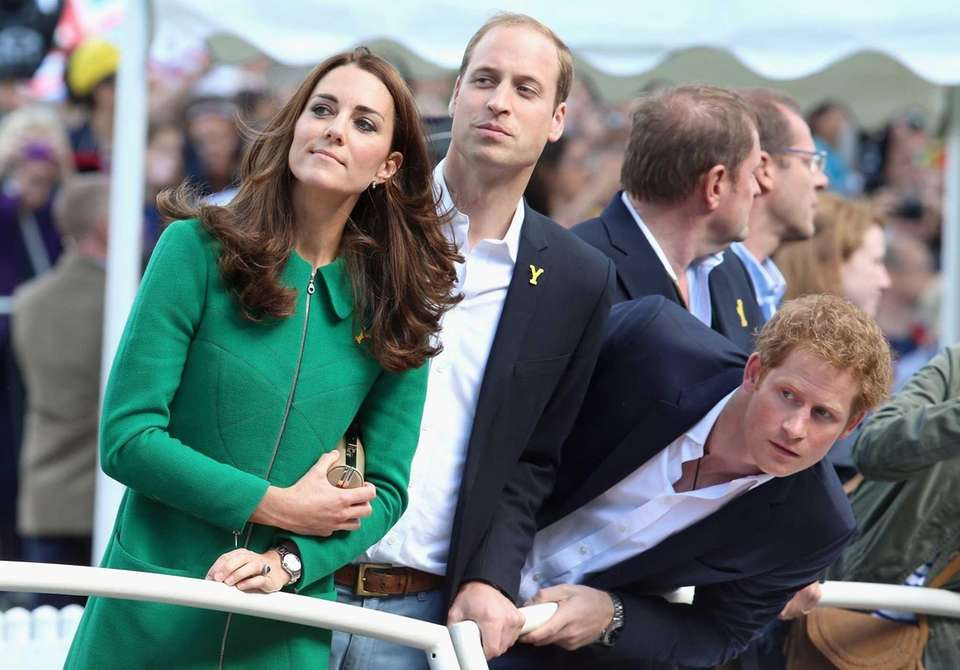 Prince William, Duchess Kate and Prince Harry watch