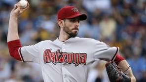 Arizona Diamondbacks starting pitcher Brandon McCarthy delivers during