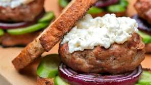 Burgers made from lean ground turkey, capers and