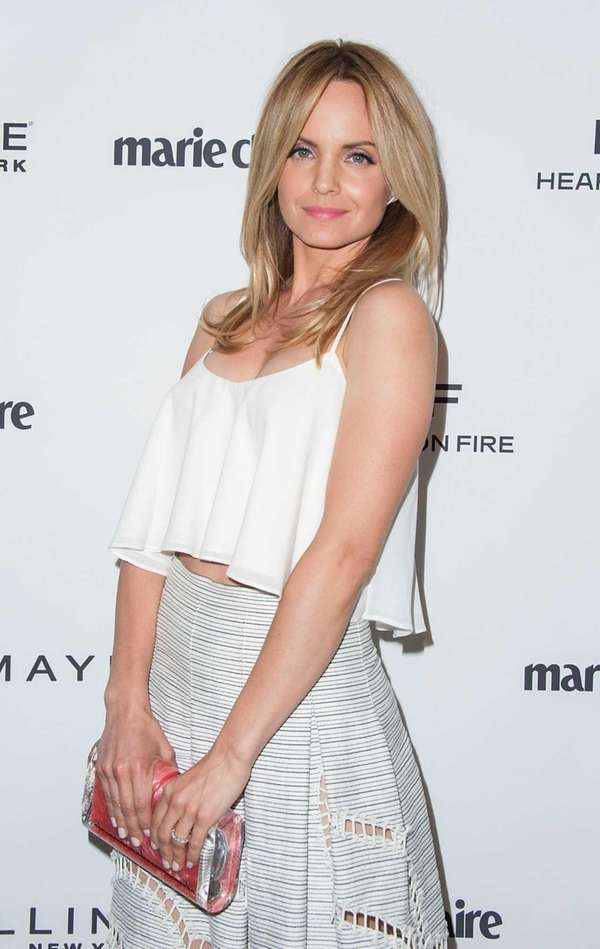 Actress Mena Suvari arrives at the Marie Claire's