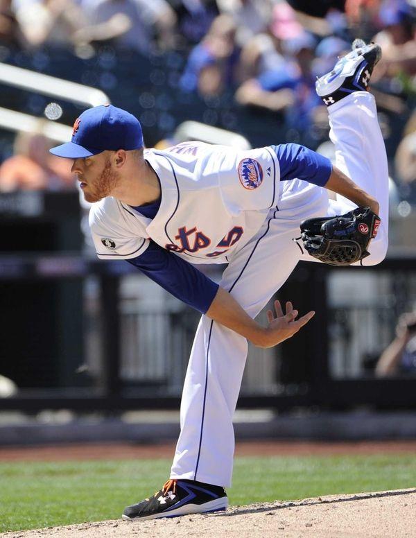 Mets starting pitcher Zack Wheeler follows through on