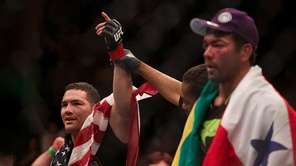 UFC middleweight champion Chris Weidman, from Baldwin, successfully