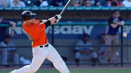 The Ducks' Lew Ford gets his second hit,