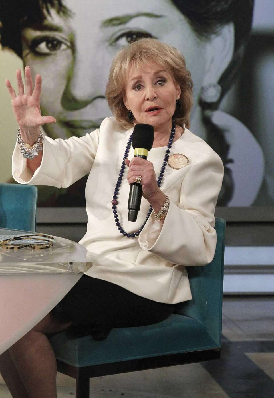 Barbara Walters remained on