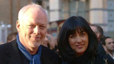 David Gilmour and his wife Polly Samson.