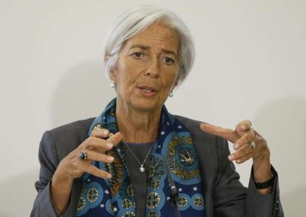 International Monetary Fund managing director Christine Lagarde speaks