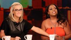 Jenny McCarthy, left, and Sherri Shepherd on the