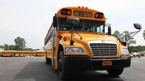 An example of a new low-emission school bus