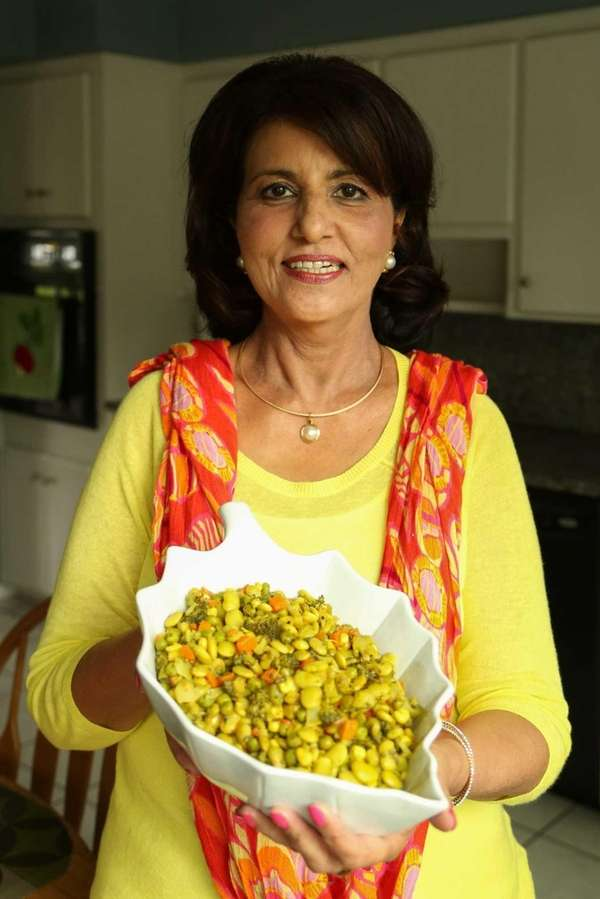 Rukhsana Anwar of Syosset, with her stir-fry vegetables,