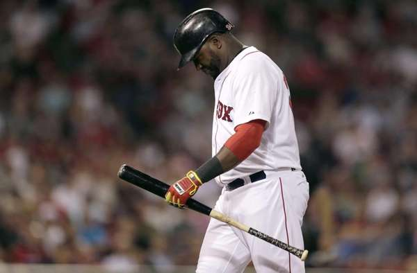 Boston Red Sox designated hitter David Ortiz heads