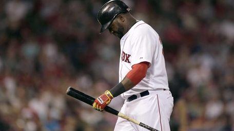 Boston Red Sox designated hitter David Ortiz heads