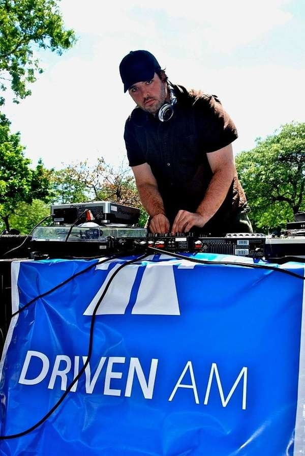 DJ Dave Shichman, spinning as part of the