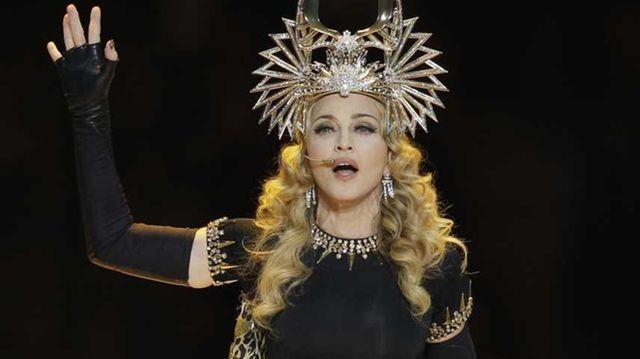 Madonna performs as cross between an Egyptian Queen