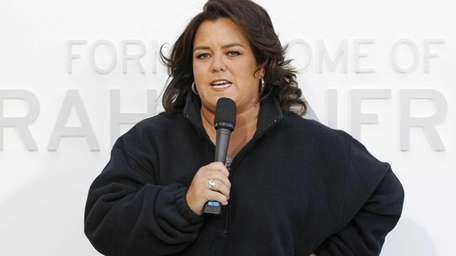 Rosie O'Donnell speaks at the unveiling of a