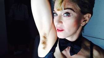 Madonna posted this photo to Instagram baring her