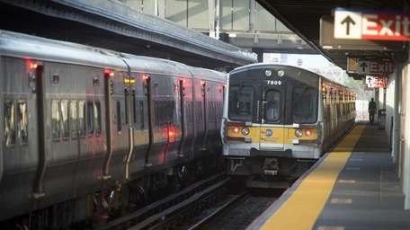 The LIRR Jamaica station is very busy in