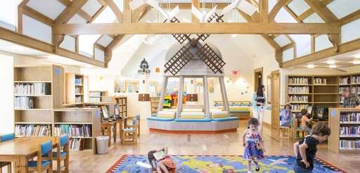 The new children's wing at East Hampton Public