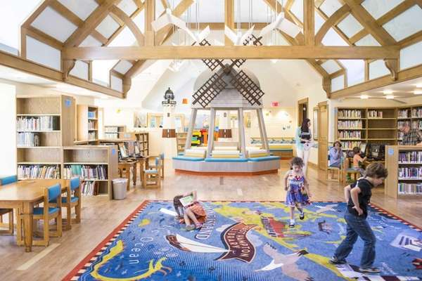 The new children's wing at East Hampton Library
