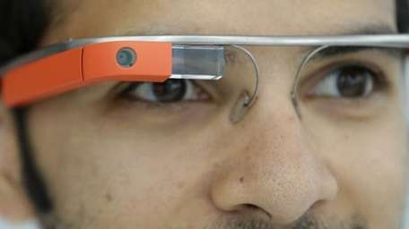 Google Glass displayed in San Francisco on May