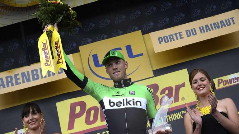 Netherland's Lars Boom wins the fifth stage of