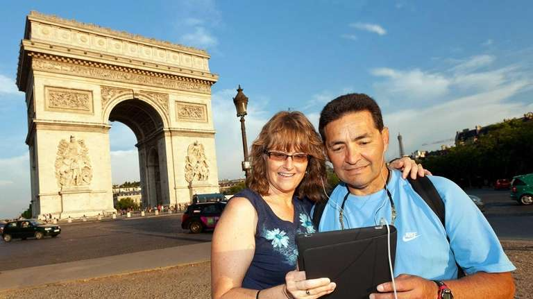 Download maps and audio tours to your tablet