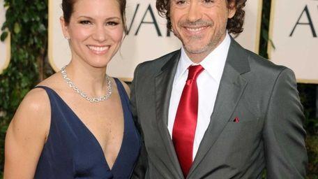 Actor Robert Downey Jr. and producer Susan Downey