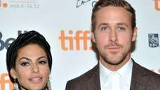 "Eva Mendes and Ryan Gosling attend ""The Place"