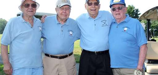 From left, Joe Leto, 96, of Garden City;