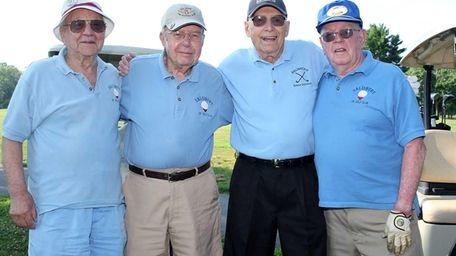 From left, Joe Leto, 96, of Garden City;