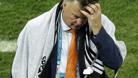 Netherlands head coach Louis van Gaal returns to