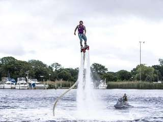 Jimmy Bissett, owner of Flyboard LI in Riverhead,