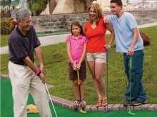 Boomers is a popular spot for mini golf
