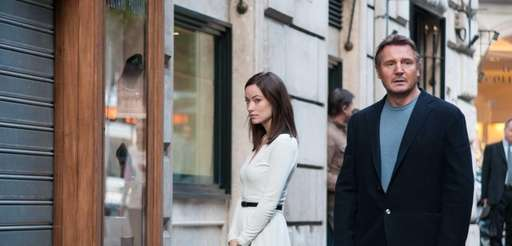 "Olivia Wilde and Liam Neeson in ""Third Person."""