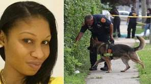 Chinelle Latoya Browne, 27, of Brownsville, pictured left
