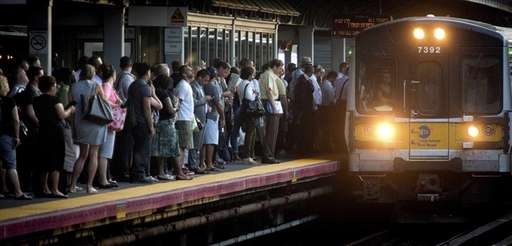 LIRR commuters wait for their train to come
