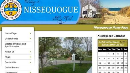 The Nissequogue Village homepage. The Nissequogue Village government