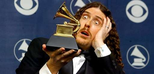 """Weird Al "" Yankovic clowns around with the"