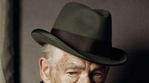 British actor Ian McKellen on the first day