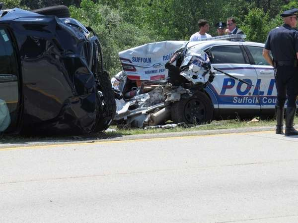 Suffolk Highway Patrol and other officers at the