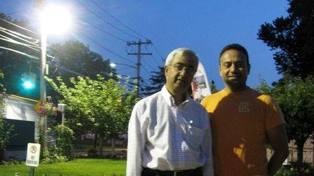 Habeeb Ahmed and Imran Zaidi outside the Islamic