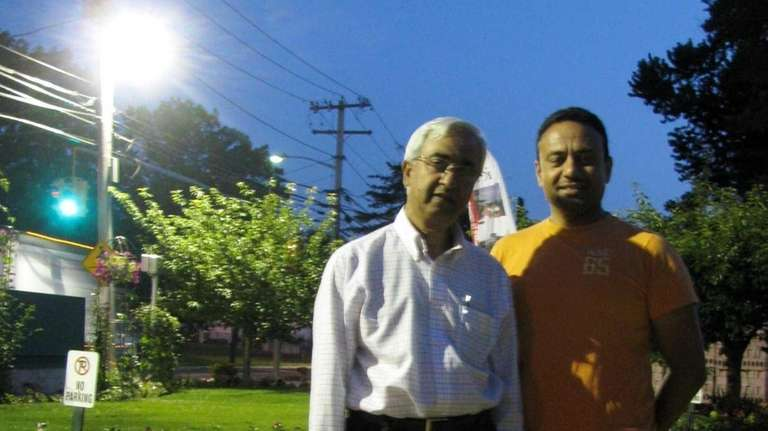 Habeeb Ahmed and Imran Zaidi outside the Islamic
