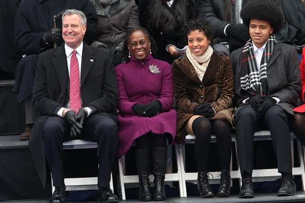 The de Blasio family will be heading to