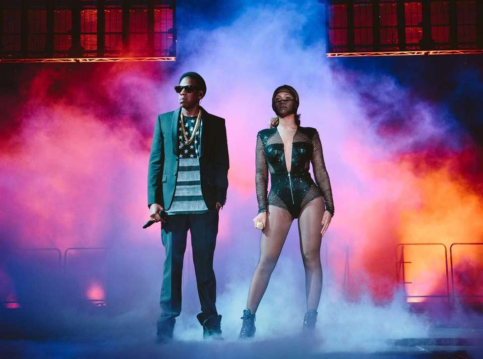 "Beyonce and Jay Z perform during the ""On"