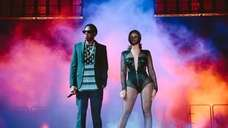 Beyonce and Jay Z perform during the