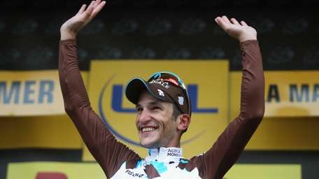 Stage winner Blel Kadri of France and AG2R