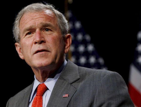 A file photograph showing President George W. Bush