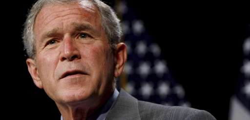 President George W. Bush delivers remarks at Max