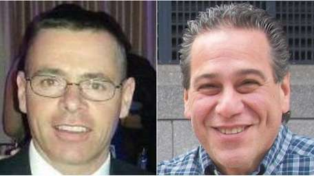 Tom Lanning, left, defeated Oceanside restaurant owner Mike